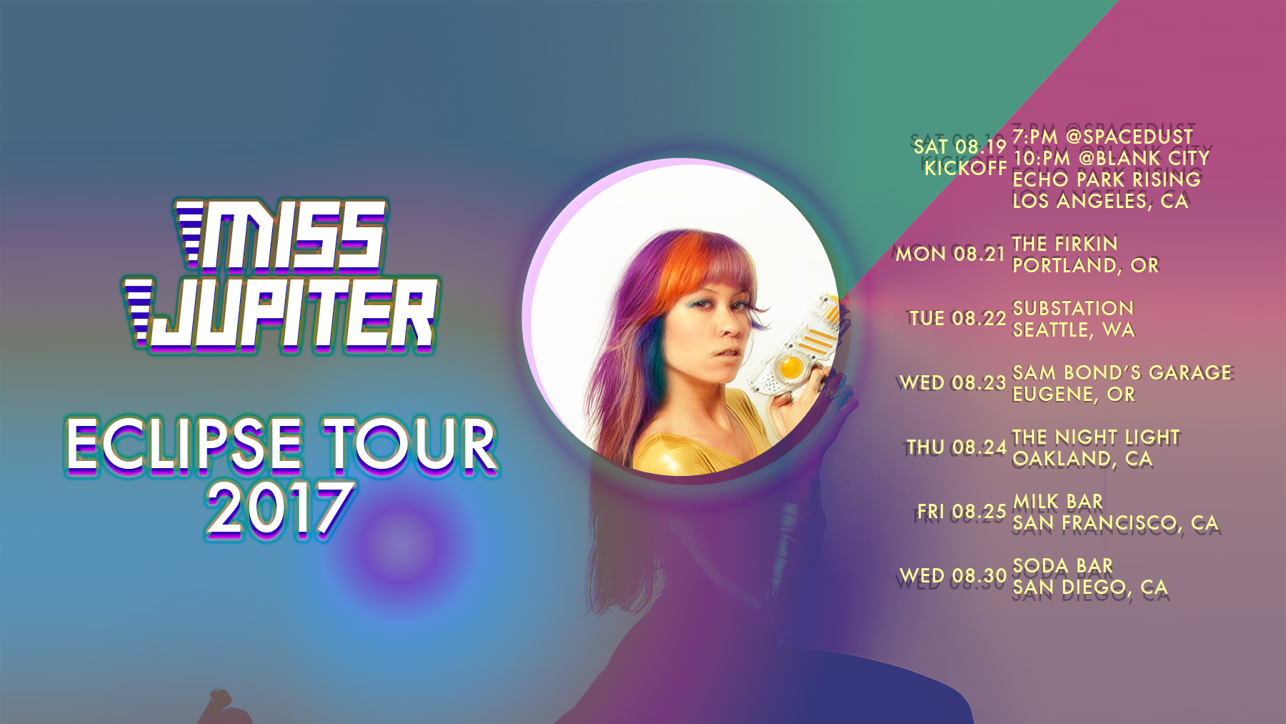 MISS JUPITER ECLIPSE TOUR 2017
